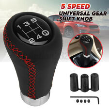 5 Speed Universal Manual Transmission Gear Shift Knob Shifter Lever PU Leather