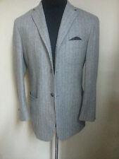 *VICTOR VICTORIA* Gray Flannel Striped Blazer 3 Btn  Patch Pockets  Fit 40R-42 R