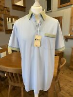 New With Tags Gabicci Mens Blue/Green Polo Top Size Large
