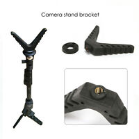 Outdoor Tripod Shooting Hunting Stick Gun Rest V-Yoke Mount Adjustable Camera