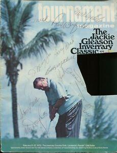1972 JACKIE GLEASON GOLF PROGRAM SIGNED BY JOE DIMAGGIO DON DRYSDALE JSA COA