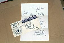 Personal letter of Admiral Jerauld Wright autograph 1955, NATO cover Navy