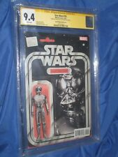 STAR WARS #16 CGC 9.4 SS Signed JTC ~ ACTION FIGURE VARIANT Death Star Droid