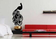 Decor Vinyl Sticker Room Decal Art Design Tattoo Beautiful Peacock Bird #668