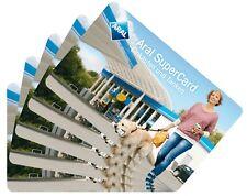 5x Aral Supercard 10 Euro = 50 Euro ! Einkaufen und Tanken ! Gutschein