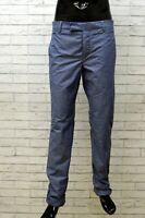 Peuterey Pantaloni da Uomo Taglia 48 Jeans Blu Chino Cotone a Righe Pants Man