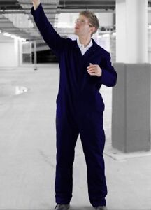 COTTON DRILL BOILERSUIT / MECHANICS Coverall  -  Navy Blue - BS5