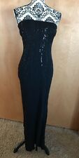 RIMINI by Shaw STRAPLESS Evening Formal Holiday Party  Maxi Dress Black 6 LINED