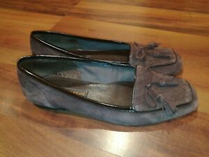 Enzo Angiolini Ealizzia Womens Suede Loafers Flat Tassel Burgundy Shoes Size 7.5