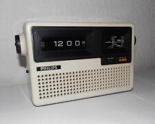 Vintage-Rollzahlen-Klappzahlenwecker-Radiowecker-Tischuhr-Flip Clock-Philips-top