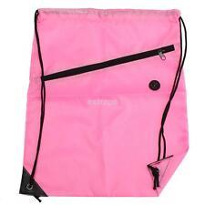 String Drawstring Backpack Cinch Sack Gym Tote Bag Polyester School Sport Pack S