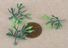 1:12 Maßstab 4 Kunststoff Licht /& Dunkelgrün Pflanzen Tumdee Puppenhaus Mini LG9