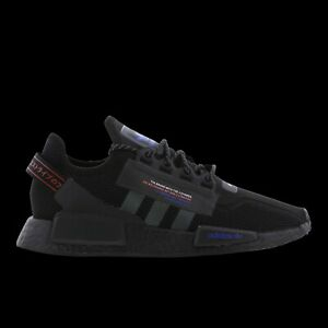 Adidas NMD R1 V2 Black Blue Red Men's Trainers Limited Stock All Sizes