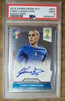 Panini 2014 Fabio Cannavaro Autograph PSA 9 Soccer Card