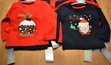 NEW 6-9 MONTHS 2 PACK CHRISTMAS BOYS LONG SLEEVED COTTON TOPS