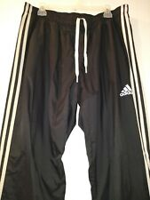 Adidas Men's Black Mesh Lined Ankle Zip 2 Pocket Track Pants Sz XL 2016 Mint EUC