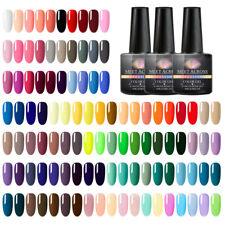 MEET ACROSS 250 Colours Nail Art Soak Off Gel Polish Manicure UV Base Top Coat