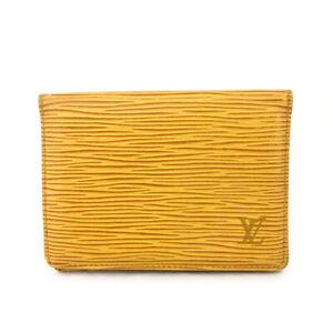 Louis Vuitton Epi Porte 2 Cartes Vertical Yellow Leather Pass Card Case /E1380