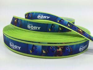 """BTY 7/8"""" Finding DORY Disney Movie Grosgrain Ribbon Hair Bows Scrapbooking Lisa"""