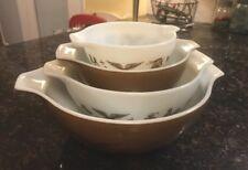 Pyrex Mixing Bowl Set of 4 Heritage Americana Cinderella Nesting brown/gold