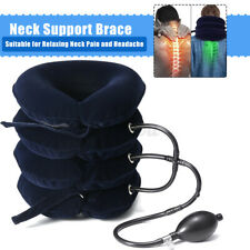 Neck Support Brace Inflatable Head Pain Relief Traction Cervical Collar Pillow