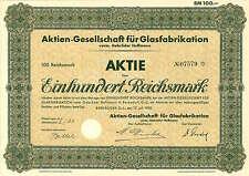 AG für Glasfabrikation vorm. Gebrüder Hoffmann 100 RM 17.7.1930 Bernsdorf O.-L.