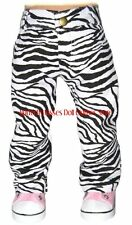 Zebra Print Jean Pants Fits 18 in American Girl Doll Clothes