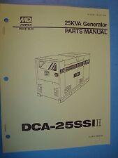 MQ Power  DCA-25SSI II  25KVA Generator Parts Manual s/n 3653794 B187 13 001 04A