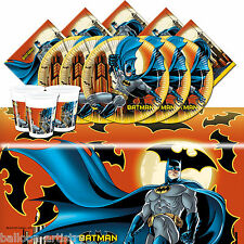 DC Comic Batman Night Children's Birthday Complete Party Tableware Pack For 16