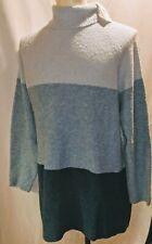 NWT FIELD GEAR Womens Size 3X Teal Combo Wool Blend Long Sweater Blouse Top