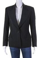 Gianni Versace Womens Single Button Blazer Jacket Black Size EUR 40