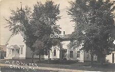 <A15> MAINE Me Real Photo RPPC Postcard c1910 CLINTON M.E. Church Building