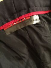 Prada Men's 100% Virgin Wool Dark Navy Dress Pants, Size 36 (US) 52 (EU)