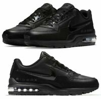 New NIKE Air Max LTD 3  Leather athletic sneakers 687977 020  Mens triple black