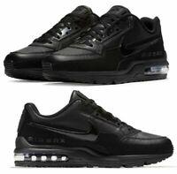 NIKE Air Max LTD 3  Leather 687977 020  Mens triple black 10.5 &12 mismatch pair