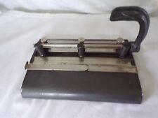 Vintage Masters Products Series 25 Gray 3-Hole Punch desk top paper punch