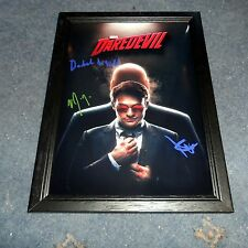 """DAREDEVIL PP SIGNED FRAMED A4 12""""X8"""" PHOTO POSTER CHARLIE COX DEBORAH ANN WOLL"""