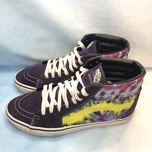 VANS Sk8-Hi Skateboarding Shoes 721356 Multi Color Suede Men's Size 8 Women 9.5