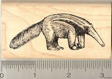 Giant Anteater Rubber Stamp, Ant Bear, Insectivore, Mammal K4304 Wm