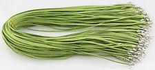 Al Por Mayor 10 Piezas Verde Piel De Ante Cuerda 50.8cm Cordones Para Collar