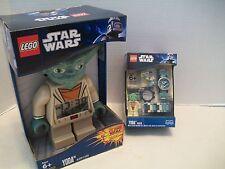 Lego #9002069 Star Wars Yoda Watch & Alarm Clock Bundle 2 NIB 2010-2011!