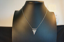 Sterling Silver Beautiful Necklace With Gems Pendant Jewelry