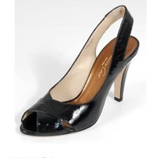 KENNETH COLE Park N Ride Black Slingback Heels 8.5 (M)  Black Patent Leather