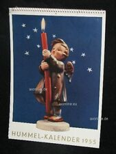 Goebel Hummel Kalender Calendar 1955, Titelbild Engel mit brennender Kerze