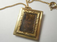 ANTIQUE VICTORIAN MOURNING NECKLACE WOVEN HAIR GOLD FILLED 100 YEARS OLD