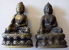 2 FIGURINE STATUE BRONZE BOUDDHA 60 mm