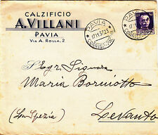 """Z6014-PAVIA, """" CALZIFICIO A. VILLANI """", 1937"""