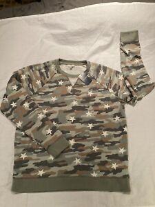 Lucky Brand Camo Stars Sweatshirt, sz XL, NWT! $69.50!