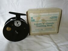 """Vintage Centrepin Reel 4"""" Leeds Trotting Reel  boxed by Lewtham Products"""