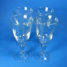 "Luminarc VOLUTE 5.75"" Wine Glasses Set of 4 Clear Swirl Glass Cristal D'Arques"